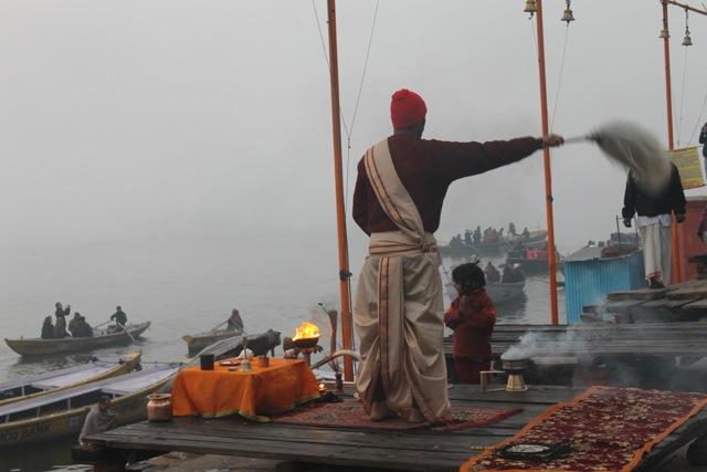 Morning ritual in Varanasi, India