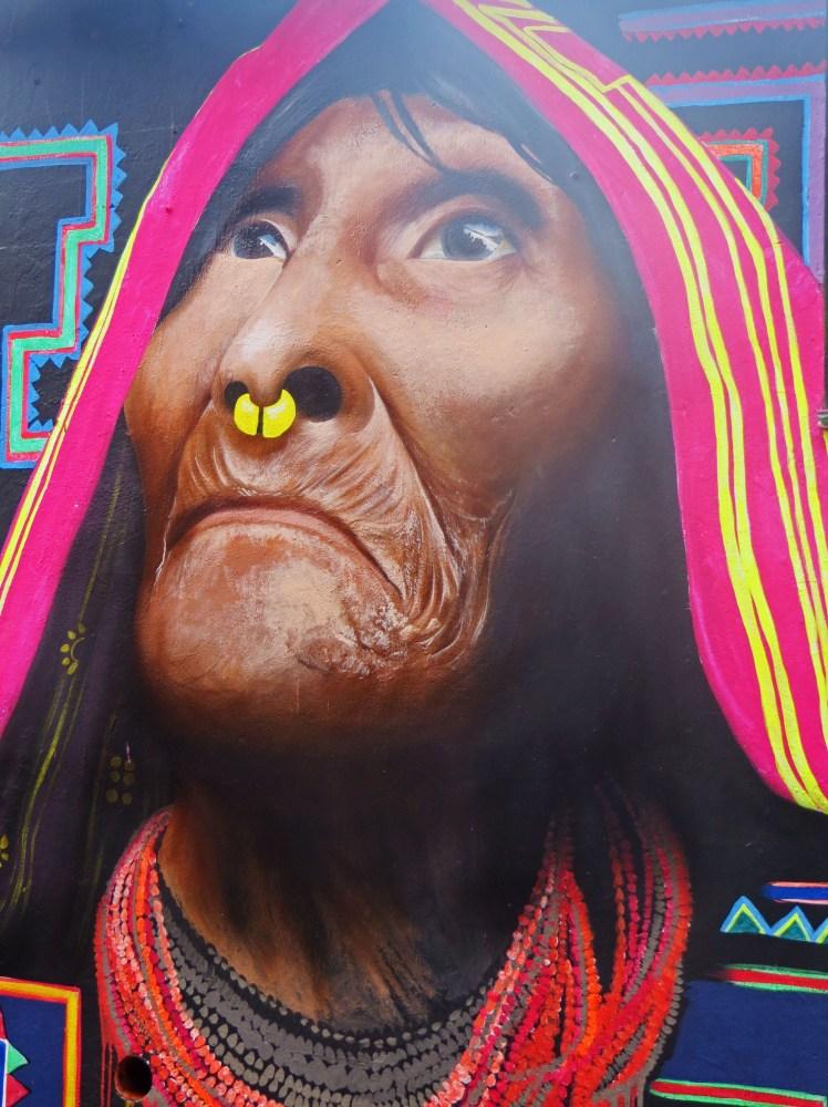 Indigenous Woman Street Art Colombia