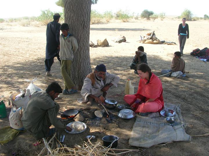 Perparing dinner in the Thar Desert