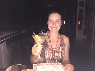 Enjoying a Martini Bleu at Four Season's Coral Grill.jpg