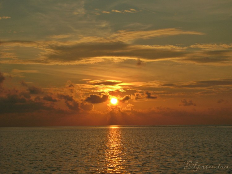 Stunning sunset in the Maldives