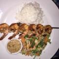 Shrimp skewer at Bananas