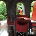 Unique and historic dining setting on Nevis at the Golden Rock Inn