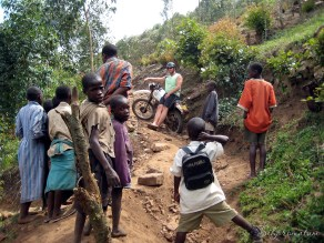 Dead end road for us in the tropics of Uganda