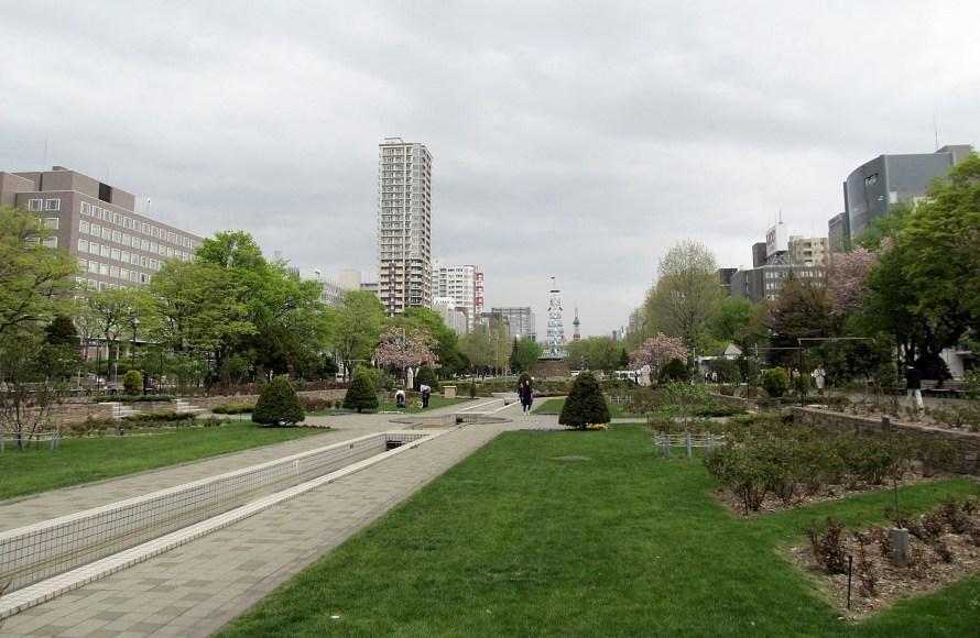 Odori park, Sapporo.  Japan