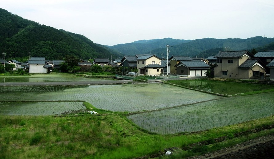from the train near kanazawa  Japan