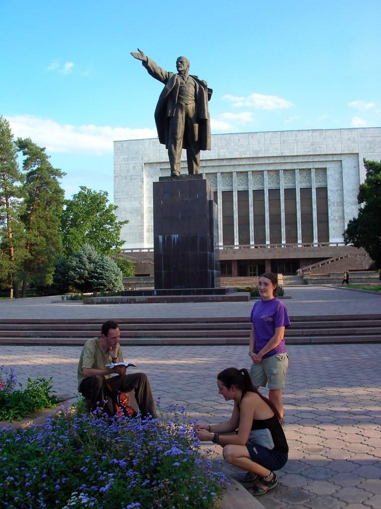 One of many Lenin statues in Bishkek