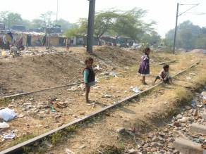 Train track playground