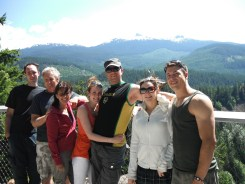 At the outlook at Brandywine Falls on the way to Whistler BC