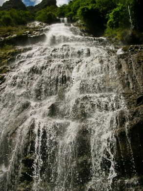 I was comforted by the sight of the waterfalls glistening and splashing over different parts of the path.