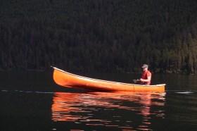Kees loving Loon Lake, BC