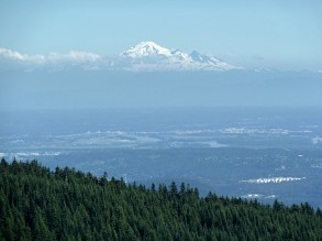 Mt Baker and Vancouver below. BC
