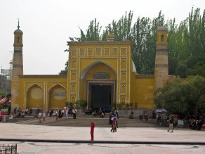 """I actually love the mosque and this Middle Eastern style of architecture,"" Ammon commented, as if he'd been reading my mind. He snapped yet another picture of Kashgar's exotic Id Kah Mosque, the largest one in China."
