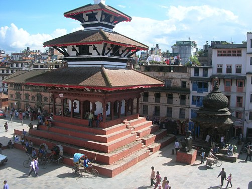Katmandu Nepal. Backpacks and Bra Straps