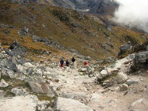 Trekking in Nepal. Backpacks and Bra Straps.l