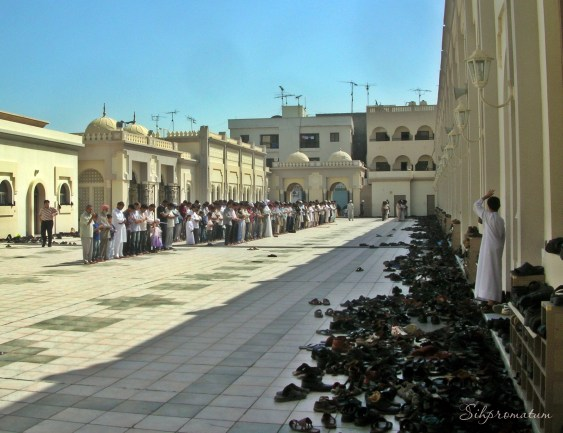Prayer time in the Mosque, Bahrain