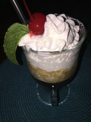 Dessert at Bananas is the cherry on top!
