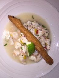 Shrimp and coconut ceviche at Cabanas