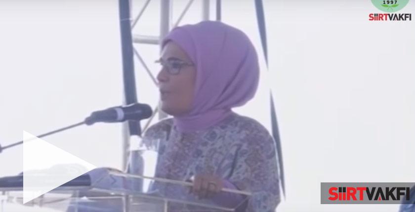 Siirt Vakfı Emine Erdoğan Konuşması