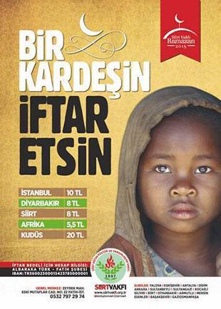 Siirt Vakfı İftar Yardımı Afişi 2015