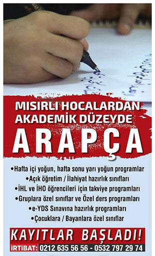 Mısırlı Hocadan Akademiş Düzeyde Arapça Eğitmi İstanbul