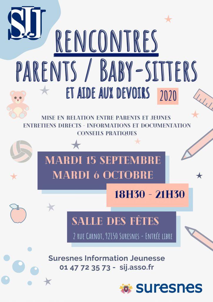 Affiche des Rencontres Parents / Babysitters 2020
