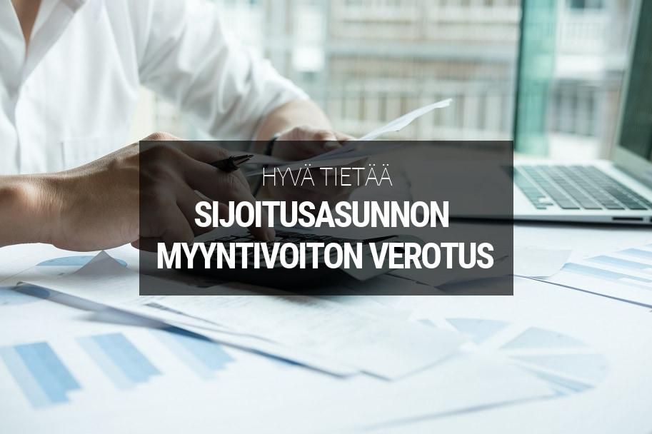 Sijoitusasunnon myyntivoiton verotus - Sijoitusovi.com
