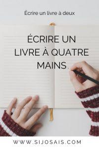 Écrire un livre à quatre mains