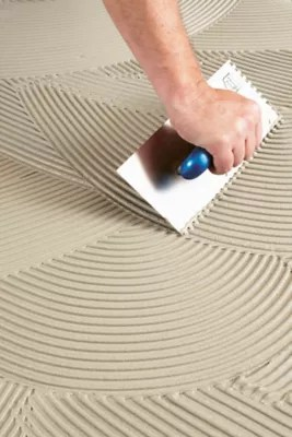 how to apply tile setting products