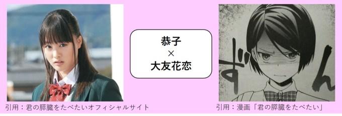 恭子×大友花恋