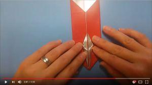 鶴の折り紙㉘