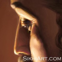 1 Guru Ram Das expression longing emotion shown in Eyes close-up