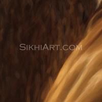 Guru Ramdas ji Beard brushes highlights details