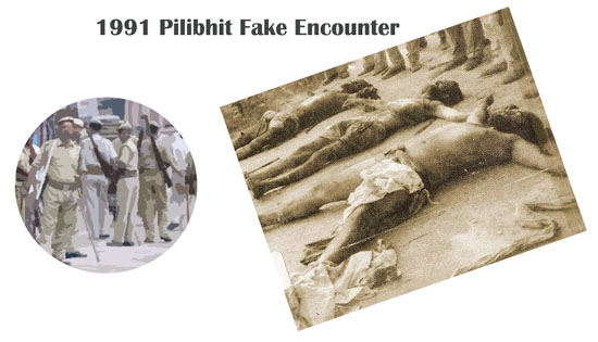 1991 Pilibhit Fake Encounter. Murder of innocent Sikh Pilgrims.