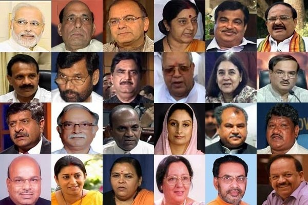 Narendra Modi And Other Cabinet Ministers