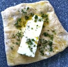 Olivenöl, Rosmarin, Schafskäse