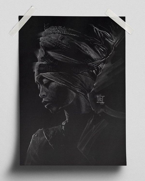 Erykah Badu - Fine Art Print (Gliceé)