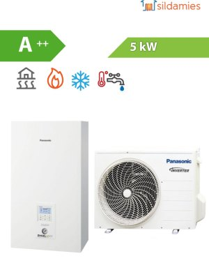 Siltumsūknis Panasonic 5 kW bi-block WH-UD05HE5-1 / SDC05H3E5-1