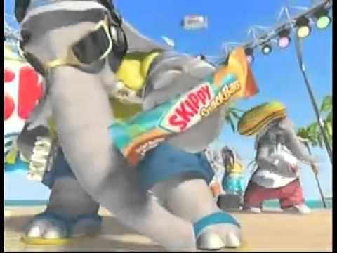 Skippy Snack Bar Commercial With the Elephants