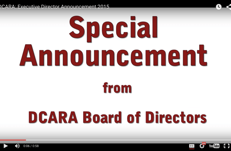Special Announcement from DCARA Board of Directors: Executive Director