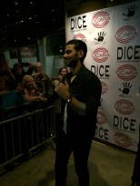 Nyle DiMarco chats with some of the fans.