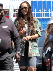 She's dreading it! Tyra Banks sports long dreadlocks while visiting former protege at DWTS ...