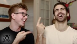 Nyle DiMarco teaches Tyler Oakley how to how to flirt in sign language