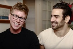 Nyle DiMarco teaches Tyler Oakley how to flirt in sign language for a cause