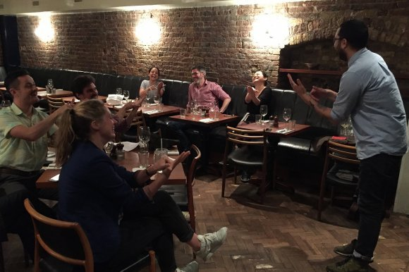 Staff from Hawksmoor restaurant have been learning BSL signs to help them communicate with each other across the restaurant floor and improve their communication skills with deaf customers