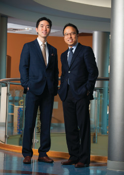 Kelvin M. Kwong, MD, left, and Michael Chee, MD