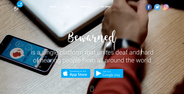 bewarned app iphone deaf hard of hearing