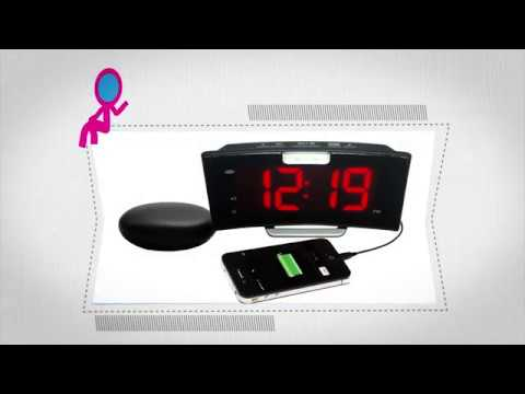 Wake 'n' Shake Curve alarm clock: Our newest product