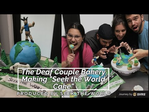 "Mayra Cakes - The Deaf Couple Bakery Making ""Seek the World Cake"""