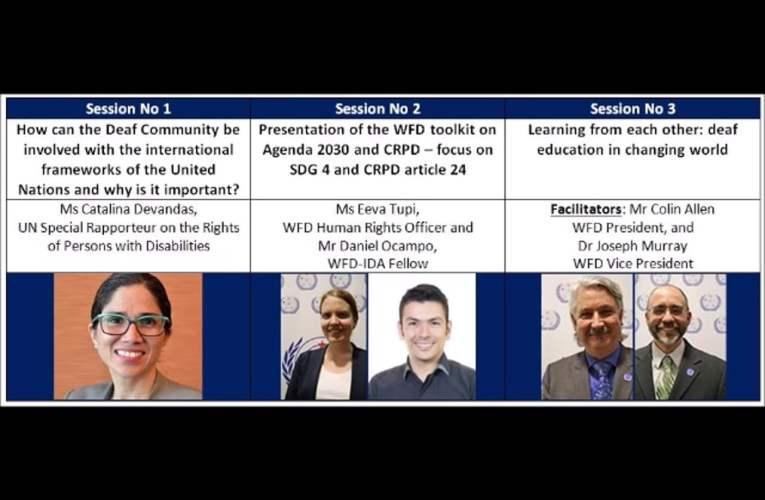 WFD Workshop – Inclusive Education 8 November 2017